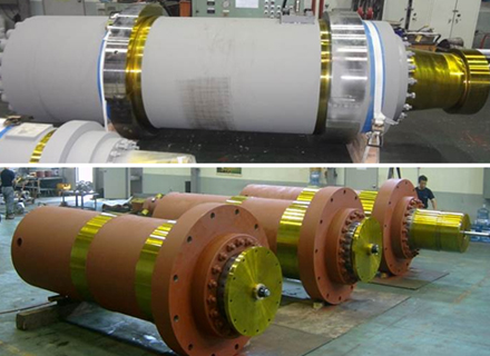 Cylinder for industrial machinery